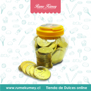 monedas de chocolate